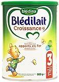 Blédina Blédilait - Lait bébé Croissance en poudre de 12 mois à 3 ans 900 g