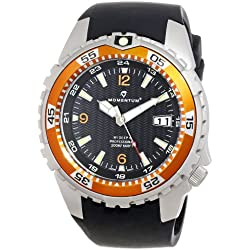 Momentum M1 Deep 6 Men's Quartz Watch with Black Dial Analogue Display and Black Rubber Strap 1M-DV06O4B