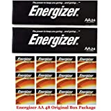 "Energizer AA Max Alkaline E91 LR6 1.5V Batteries ""In Original Box"" 48 Pack + Free Gift!"