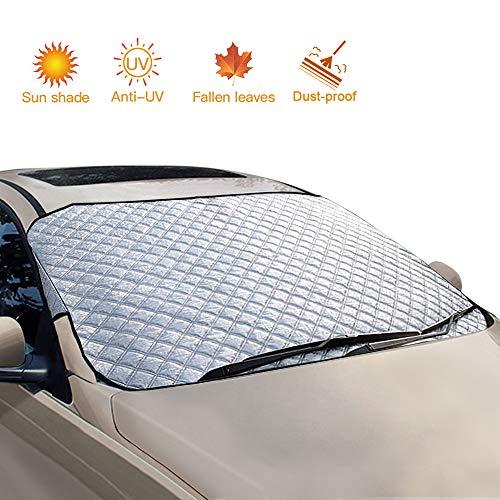 opamoo Auto-Windschutzscheiben-Schnee-Abdeckung für jedes Wetter - Schnee, EIS, Frost, Sonne und Wind Auto Schnee Abdeckung mit dickem Baumwoll-Schneeschutz, passend für die meisten Autos