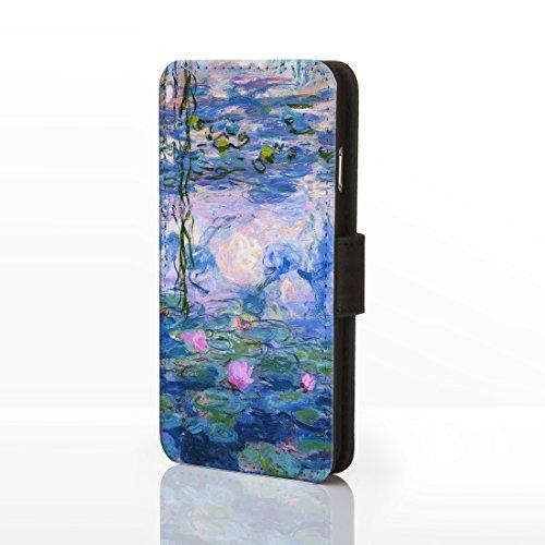 Classic Art Collection Fällen für das iPhone Reihe. bekannten Künstlerin Gemälde Bezüge, Kunstleder, 2: The Kiss - Gustav Klimt, iPhone 5/5S 8: Water Lilies - Monet