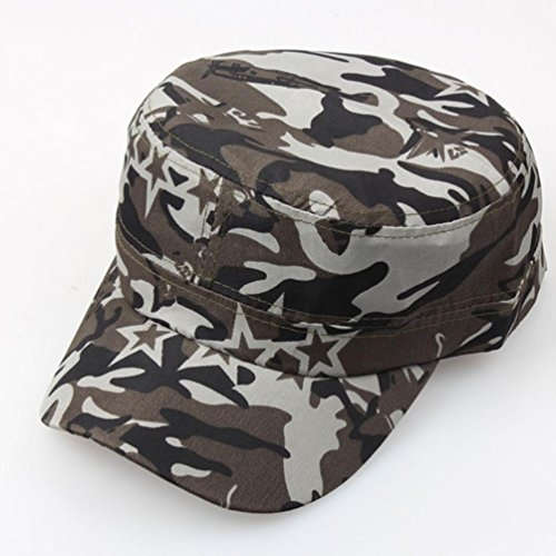 Imagen de lmmvp  de béisbol de malla deportiva,al aire libre camuflaje táctico llano vintage militar cadete estilo  sombrero ajustable b  alternativa