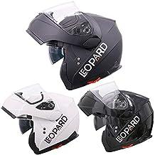 Leopard LEO-838 Cascos modulares de Moto Motocicleta Bicicleta ECE 22-05 Aprobado Doble
