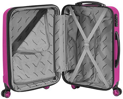 Packenger Velvet Koffer, Trolley, Hartschale  XL in Magenta.   50x34x23cm -