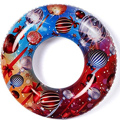 ZXC Home Schwimmen Ring PVC-Material Schwimmen Ring Strand Wassersportmöglichkeiten Aufblasbare Schwimmer Airbag auslaufsicher Schwimmring (Color : A, Size : XL)