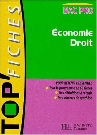 Economie Droit Bac Pro