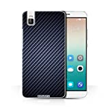 Stuff4 Hülle / Case für Huawei Honor 7i/ShotX / Blau Muster / Kohlenstoff-Faser-Muster Kollektion