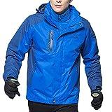 CICIYONER Herren Softshelljacke Wasserdicht Outdoor Atmungsaktiv Funktionsjacke Sport Winterjacke Wanderjacke Skijacke Doppeljacke Mantel M-6XL