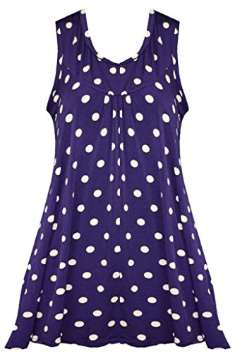 Vanilla Inc - Chemisier - Manches Courtes - Femme PURPLE WITH MOCHA DOTS
