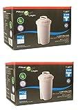 12 x FilterLogic FL601T - Cartouche filtrante compatible BRITA Classic / BWT Anna / Kenwood Universal / Laica Multi-Flux Classic / Tefal / Aquaphor B100-15 / Dafi Classic filtre à eau