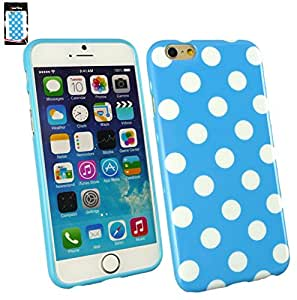 """Emartbuy¨ Apple iPhone 6 4.7"""" Inch LCD Screen Protector And Polka Dots Gel Sk..."""