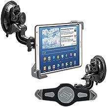 "kwmobile Soporte de luna para 7-8"" Tablet PC - Soporte de coche con ventosa en negro - compatible por ej. con Apple, Samsung, Lenovo, Asus, Huawei, Amazon, Acer, Microsoft, Sony, LG"