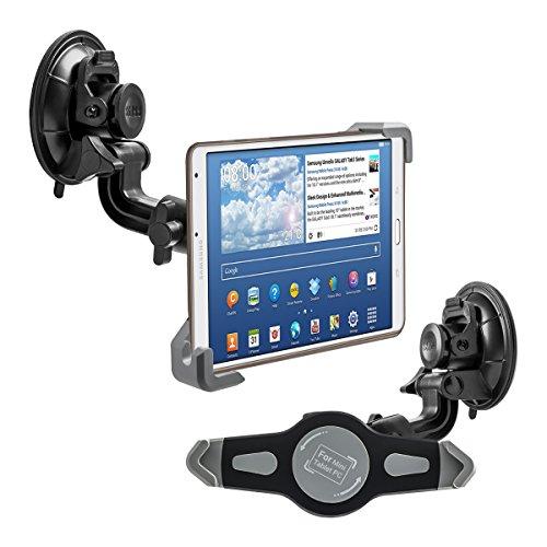 """kwmobile KFZ Scheiben Halterung für 7-8"""" Tablet PC - PKW Auto Halter mit Saugnapf in Schwarz - z.B. geeignet für Apple, Samsung, Lenovo, Asus, Huawei, Amazon, Acer, Microsoft, Sony, LG"""