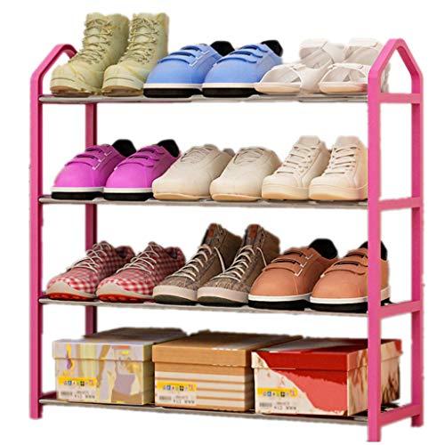 KAIMENG Schuhregal mit 4 Etagen für bis zu 12 Paar Schuhe Rose