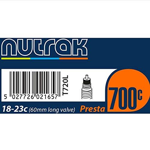 Nutrak 700x 18-23C Presta 60mm lang Ventil Fahrradschlauch Fahrrad Mountain Bike Hybrid