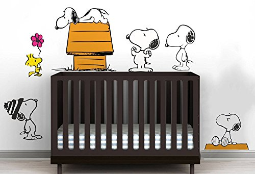 ZigRocket Snoopy Hund Geschichte DIY Wandaufkleber Removal Vinyl Wohnkultur Wand-dekor Aufkleber Wandmalereien 80x130 cm