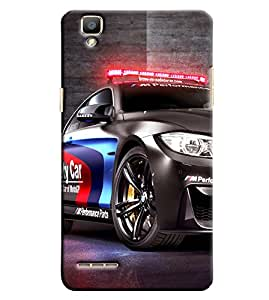 Clarks Police Car Hard Plastic Printed Back Cover/Case For Oppo F1