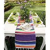 Azwedding Camino de mesa mexicano de yute natural para boda, festival, evento, decoración de mesa