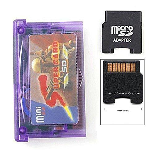 Preisvergleich Produktbild Mini SD zum Super Card Adapter für GBA SP NDSL + TF zum Mini SD Kartenadapter Supercard Mini SD