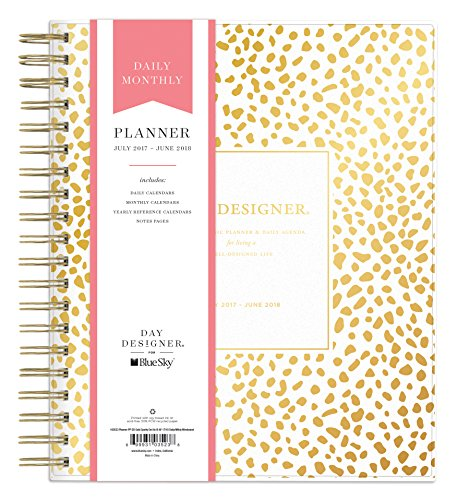 day-designer-for-blue-sky-2017-2018-academic-year-daily-monthly-planner-twin-wire-bound-8-x-10-gold-