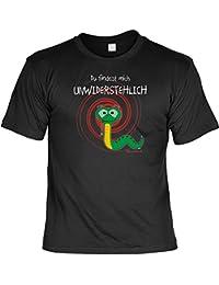 T-Shirt Funshirt Macho - Hypnose - Du findest mich unwiderstehlich - Geschenk mit Urkunde mit Humor - Farbe: schwarz