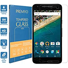 PREMYO cristal templado Nexus 5X. Protector cristal templado Nexus 5X con una dureza de 9H, bordes redondeados a 2,5D. Protector pantalla Nexus 5X