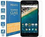 PREMYO Panzerglas Schutzglas Displayschutzfolie Folie kompatibel für Nexus 5X Blasenfrei HD-Klar 9H 2,5D Gegen Kratzer Finger