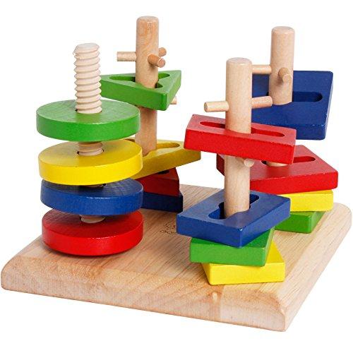 (yigooood Montessori Kinder Spielzeug Finger Twister Creative Balance Puzzle Holz Spielzeug für Kinder Weihnachtsgeschenk)