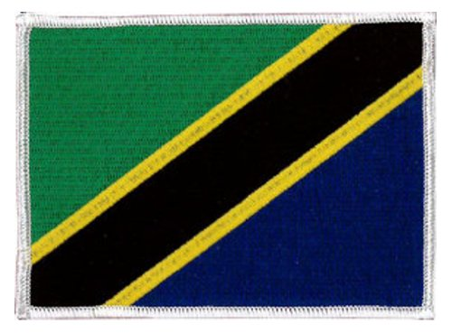Tansania Flagge gestickt Patch 12 x 9 - Tansania Patch