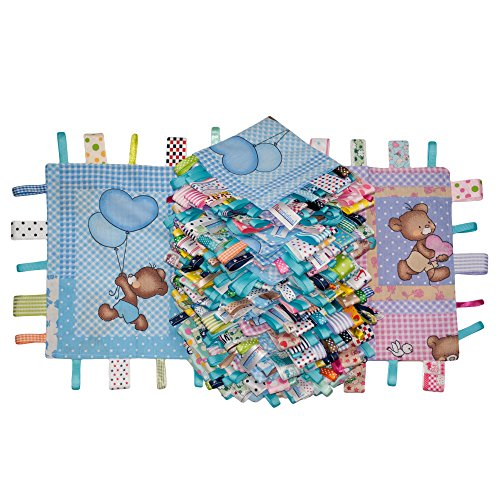 Dazoriginal Doudou et Compagnie Decke Baby Tröster Decke Tag Tröster Blau X 2 - 2 Stück Tröster