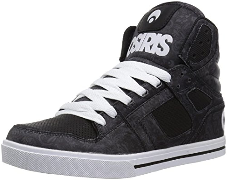 Osiris Klon Hi Top Skate Schuh   Schwarz / Paisley