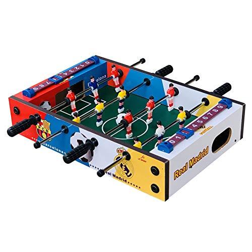 Tischkicker Compact Mini Tisch Fussball Spiel Kickertisch Tragbare Recreational Hand Tisch Wettbewerb Tischspiele for Erwachsene und Kinder (Farbe, Size : 21x31.5x8cm)