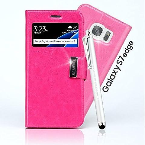 **PACK** Etui Housse SAMSUNG GALAXY S7 EDGE coque de protection Couleur ROSE pour Smartphone galaxi S 7 edge SM-G935F G935F dual sim G935 or SM G935FD lte 4g +