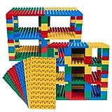 Ensemble de Construction de Tour Big Briks - de qualité - pour Grosses Briques - pour Construire Une Tour - Compatible avec Les Grandes Marques - Bleu, Vert, Rouge, Jaune