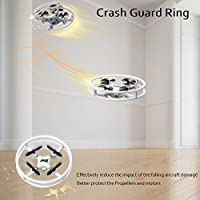 Dwi Dowellin Mini Drone UFO with LED Light RC Quadcopter 3D Flips and Rolls Remote Control Micro Toy Drones Headless Mode One Key Return Spin Quad Copter Gift for Beginners Children Kids Adults, White