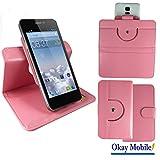 360 Grad Rosa Nano M Smartphone Tasche Schutzhülle Cover