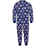 Chelsea FC Official Football Gift Boys Kids Pyjama Onesie Blue