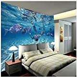 430 cmX 300 cm individuelle Fototapete stereoskopischen 3D-Unterwasserwelt des Meeres Fische, die Kinderzimmer TV Hintergrund 3D Wandbild Tapeten, 430cmx300cm