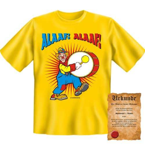 lustige witzige Karneval Fasching T-Shirt + Urkunde: Alaaf! Alaaf! - Herren Fun Shirt Rosenmontag Fastnacht Kostüme (Ideen Playboy Kostüm Party)