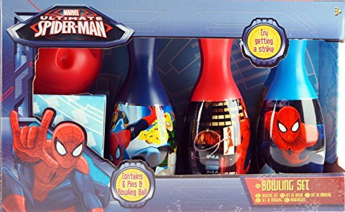 Marvel Spiderman Ten Pin Bowling Skittles und Kunststoff Ball Spiel Set