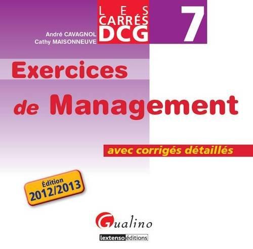 DCG 7 Exercices de Management : Avec corrigés détaillés
