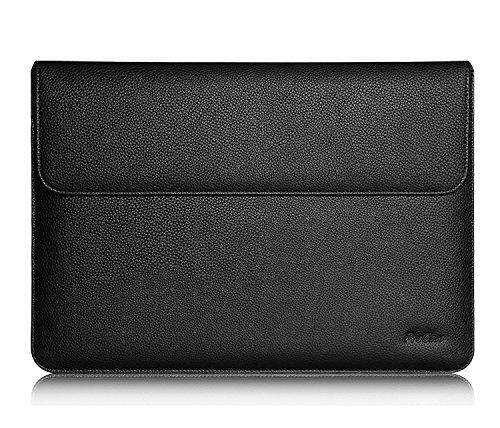 "ProCase Universal 9-10.5 Zoll PU Leder Sleeve Hülle,Tragbar Tasche Schutzhülle für iPad 9.7/10.5/ Pro 11, iPad 10.2 2019, iPad Air 2/3 10.5, Galaxy Tab S3 S2 9.7/Tab A 10.1\"",Surface Go -Schwarz"