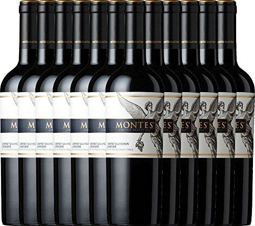 12er Paket - Limited Selection Cabernet Sauvignon Carmenère 2016 - Montes | trockener Rotwein | chilenischer Wein aus Valle Central | 12 x 0,75 Liter