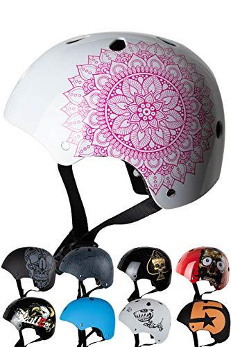 Skullcap® BMX Helm - Skaterhelm - Fahrradhelm - Herren | Damen | Jungs & Kinderhelm Gr. S (53 - 55 cm), Mandala