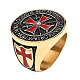 Horrenz Vintage Gothic Temple Red Cross S-w-o-r-d Ring - Best Reviews Guide