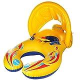 Mutter und Baby Schwimmen Float Sicherheit Kinder Pool Water Toy Seat Schwimmen Ring mit Sonne Shelter Baldachin Dual Person Parent-Child Design