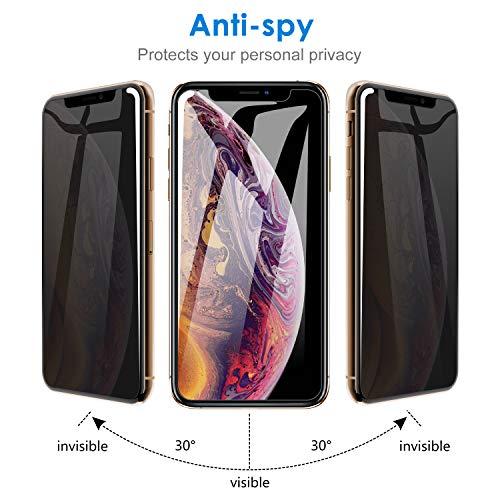 fe69931c03 JETech Privacy Pellicola Protettiva Compatible iPhone XS e iPhone X, Anti  Spy in Vetro Temperato, 5,8 Pollici, Pacco da 2