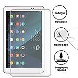 Domxteck (2er-Pack Bildschirmschutzfolie für Huawei MediaPad T1 10.0, [Kratzfestigkeit] 9H Härte 2.5D R&e Kante aus gehärtetem Glas-Bildschirmschutz