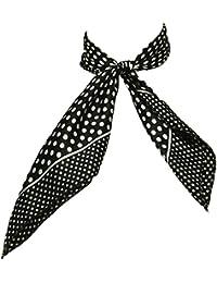 e34d4015a6d6 Heyjewels Style européen d impression Points Blanc petit carré foulard Noir