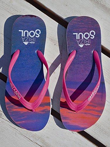 Ibiza Soul , Sandales Plateforme femme Sunset Pink